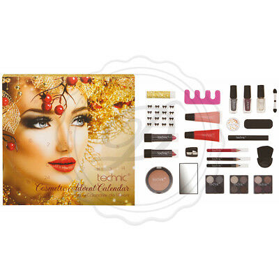 Festive Girl Makeup Advent Calendar - Beauty Lipgloss Xmas Gift Christmas Beauty