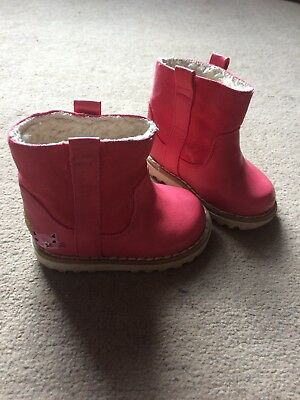 Girls Size 3 Bright Pink Winter Boots From Next