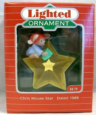 Hallmark Light and Motion Ornament  Loving Holiday 1987 QLX701-6