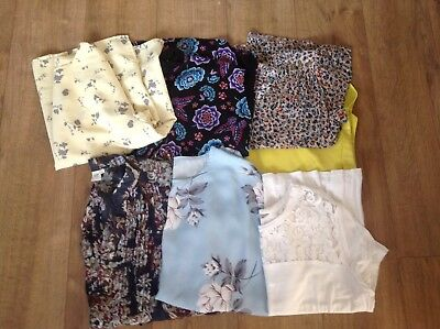 Bundle Of 7 Tops/Blouses Size 16 (14-16)