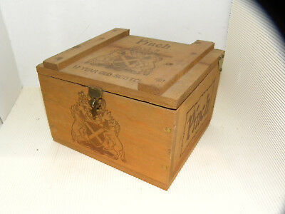 Haig and Haig Pinch Minitures in Original VINTAGE WOOD CRATE SUPER NICE AND RARE