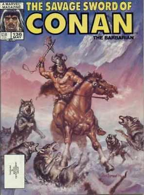 Savage Sword of Conan (1974 series) #136 in Near Mint condition. Marvel comics
