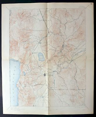 1893 Carson Nevada Reno Rare Antique 30-minute USGS Topographic Topo Map