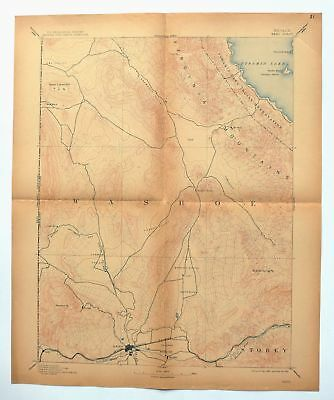 1893 Reno Nevada California Sparks Antique USGS Topographic Topo Map