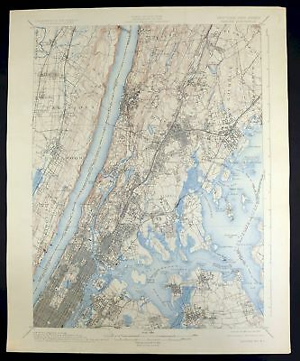 1900 Harlem New York New Jersey New York Vintage USGS Topographic Topo Map
