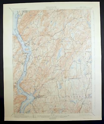 1901 West Point New York Newburgh Peekskill Vintage 15-minute USGS Topo Map