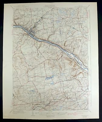 1931 Amsterdam New York Rotterdam Vintage 15-minute USGS Topographic Topo Map