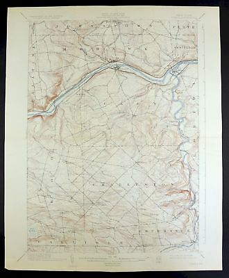1902 Fonda New York Johnstown Vintage 15-minute USGS Topographic Topo Map