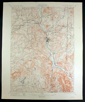 1897 Hoosick New York Vermont North Bennington Cambridge Antique USGS Topo Map