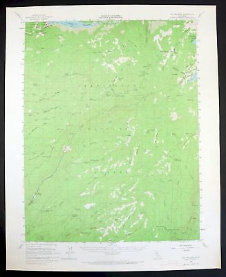 1956 Big Meadow California Bear Valley Vintage USGS Topographic Topo Map