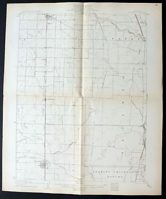1906 Willows California Orland Rare Antique 15-minute USGS Topographic Topo Map