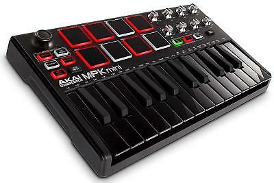 AKAI Professional USB MIDI Keyboard Controller MPK Mini MK2 Black w/Tracking NEW
