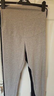 4 pair Women ladies Maternity Full Length Black Cotton Leggings size 14 med VGC