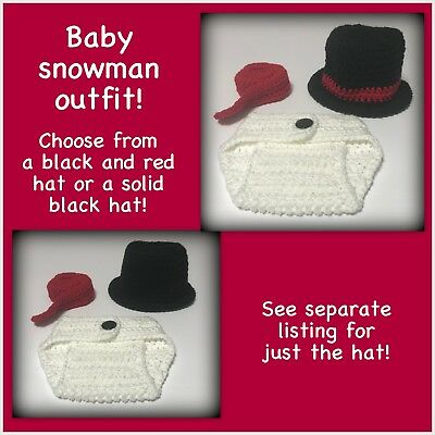 READY TO SHIP Baby snowman outfit baby preemie 0-3 months 3-6 months hat