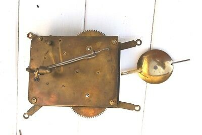 Good German Antique Working Clock Movement For Spares Or Repair