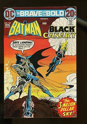 Brave And The Bold #107 Fine+ 6.5 Batman / Black Canary 1973 Dc Comics