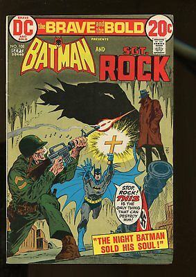 Brave And The Bold #108 Vg/fine 5.0 Batman / Sgt. Rock 1973 Dc Comics