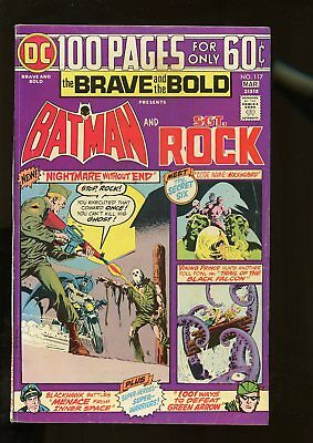 Brave And The Bold #117 Fine 6.0 Batman / Sgt. Rock / 100 Pages 1975 Dc Comics