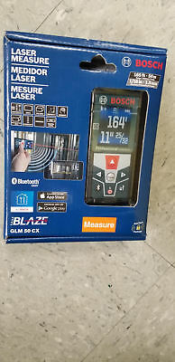 BOSCH GLM 50 CX 165 ft. Laser Measure with Bluetooth & Color Display GLM50CX