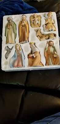 Homco/Home Interiors Nativity and Manger. Excellent used condition