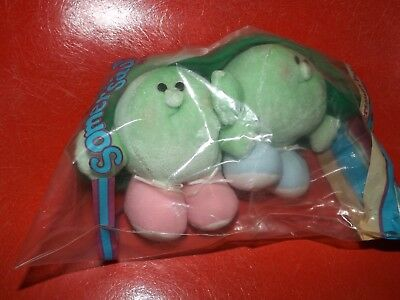 Vintage 1986 AVON Somersaults Pals Stuffed Plush One-Two peas in pod NIP