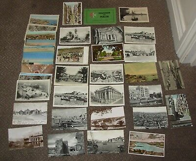 60 x MALTA PRINTED AND REAL PHOTO POSTCARDS INTRIGUING MALTESE LOT
