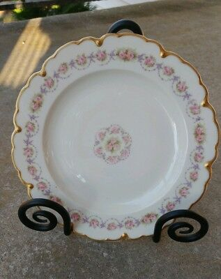 "Theodore Haviland Schleiger 1256 Luncheon Plates 9"" Made in Limoges, France"