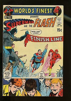 World's Finest Comics #199 Vg/fine 5.0 Superman / Flash Race 1970 Dc Comics