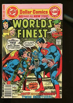 World's Finest Comics #246 Fine- 5.5 80 Pages / Neal Adams Cover 1977 Dc Comics