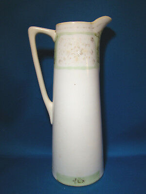 "Nippon Chocolate Pot Hand Painted Raised Dot Gold Gilding 9 1/2"" Tall NO LID @22"