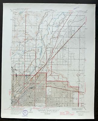 1947 Derby Colorado Denver Thornton Commerce City Vintage USGS Topo Map