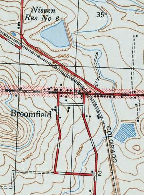 1944 Lafayette Colorado Broomfield Westminster Thornton Vintage USGS Topo Map