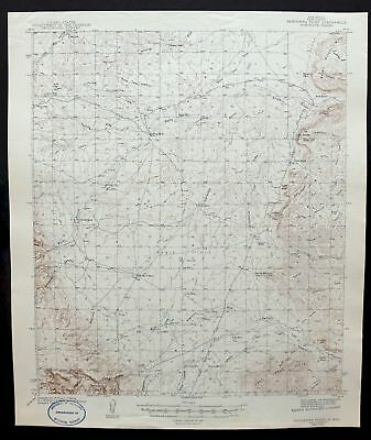 1943 Bandanna Point New Mexico Carlsbad Vintage USGS Topographic Topo Map