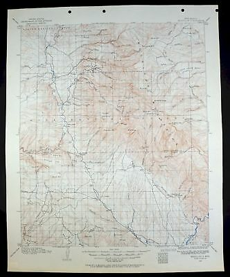 1910 Mogollon New Mexico Blue Range Wilderness Apache NF Vintage USGS Topo Map
