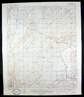 1943 Oil City New Mexico Carlsbad National Wildlife Refuge Vintage USGS Topo Map