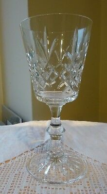 "Edinburgh Crystal Lomond Claret Wine Glass, 5.5"", signed"