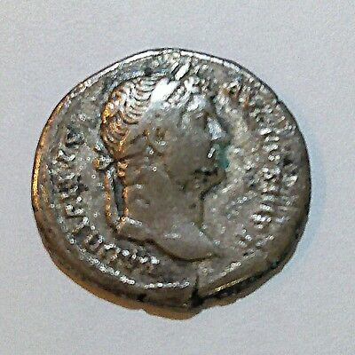 Ancient authentic Roman Empire Silver Coin -  Hadrian (117-138) From Holy Land