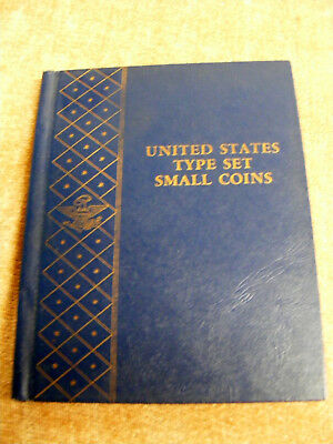 1 Whitman U.S.TYPE SET SMALL COINS DELUXE COIN ALBUM.WITH COVERS -GOOD COND.