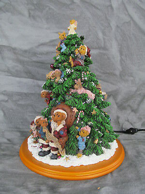 The Danbury Mint - The Boyds Bears Christmas Tree LIGHTED