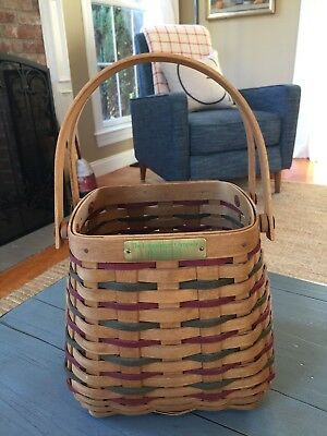 Longaberger Christmas Basket 2002 Happy Holidays Employee Red Green Rare