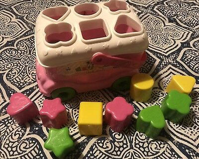 Disney Baby Mickey Minnie Mouse Bus Shape Sorter Toy