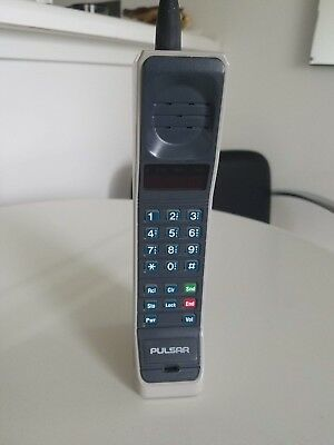 Vintage Motorola Pulsar Brick Phone Cellular 1980's, use as a prop!