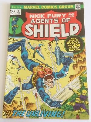 Nick Fury And His Agents Of Shield #1 First Issue February 1973 Marvel Comics