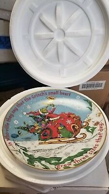 2007 Grinch's Heart Collector Plate Danbury Mint