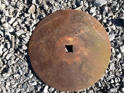 Vintage Antique Disc Blade Iron Farm Repurposed Shed Decor Yard Art Industrial