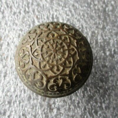 "ANTIQUE VICTORIAN ORNATE BRASS BRONZE DOOR KNOB 2 1/4"" diameter"
