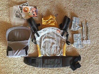 Tula Archer Standard Baby Carrier with infant insert and accessories, like new