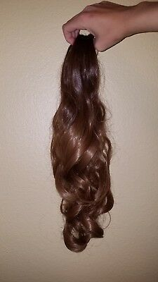 "Neverland Beauty 20""(50cm) Ombre Two Tone Long Big Wavy Claw Curly Ponytail Clip"