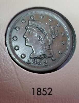 1852 Large Cent Coin ~