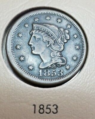 1853 Large Cent Coin ~